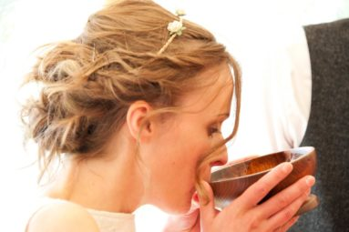 Bride-Takes-A-Ceremonial-Drink